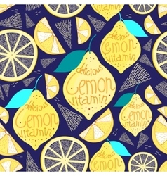 Bright pattern of lemons vector image