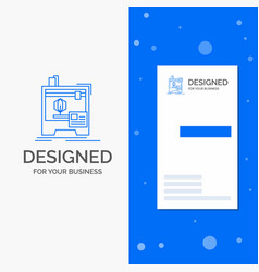 Business logo for 3d dimensional machine printer vector