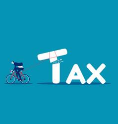 Businessman tax cutter concept tax business vector