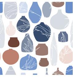Ceramic dishes vector