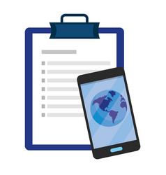 Checklist and cellphone vector