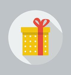 christmas flat icon gift vector image