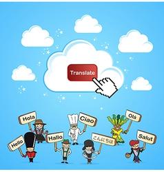 Cloud computing translate concept vector