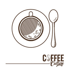 Coffee time concept vector