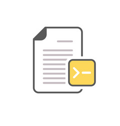 command document file page icon vector image