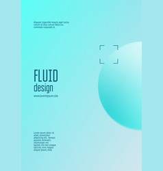 Cover fluid with round shapes vector