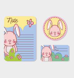 Cute animals label tags and sticker vector
