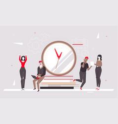 deadline - modern flat design style colorful vector image