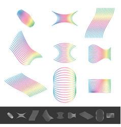 Different line design elements with spectrum vector