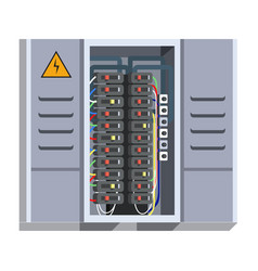 Electrical panel isolated on white background vector