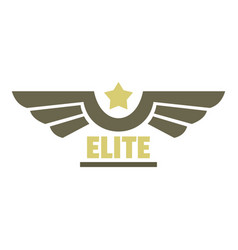 elite air force icon logo flat style vector image