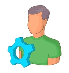 Engineering vacancy icon cartoon style vector