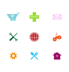 flat thin line business icon vector image