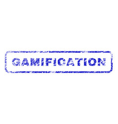 Gamification rubber stamp vector