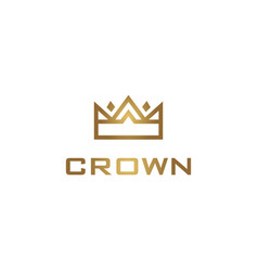 geometric crown logo vector image