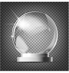 glass trophy award award on gray vector image