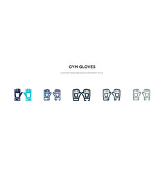 Gym gloves icon in different style two colored vector