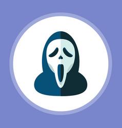 halloween mask icon sign symbol vector image