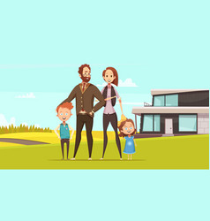 happy amicable family design concept vector image