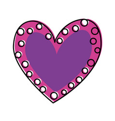 heart love romance passion dots decoration image vector image
