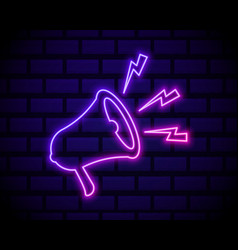 Latest news neon light announcement poster vector