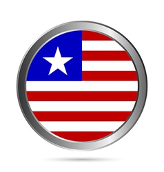Liberia flag button vector