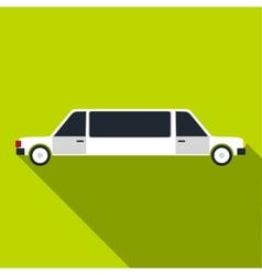 Limousine icon flat style vector