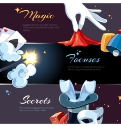 Magician illsutrations for template of web banners vector image
