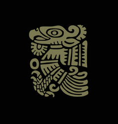 mayan art religious symbol ancient indians vector image