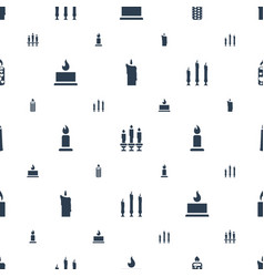 memorial icons pattern seamless white background vector image