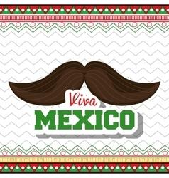 moustache viva mexico symbol graphic vector image