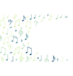music notes background banner template melody vector image