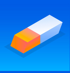 office eraser icon isometric style vector image