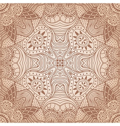 ornamental round lace pattern circle background vector image