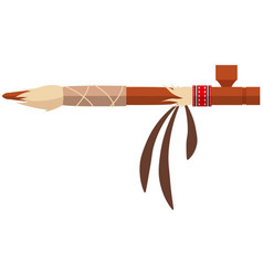 peace pipe native american indian icon vector image