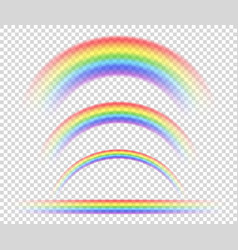 Rainbow on a transparent background vector