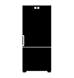 Refrigerator icon the black color icon vector