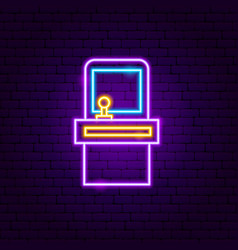 retro old game neon sign vector image