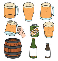 set of beers vector image