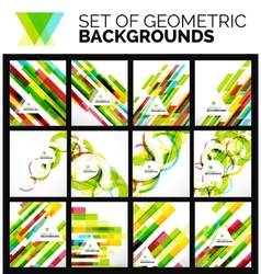 Set of flyer templates abstract backgrounds vector image
