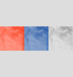 set three triangles pattern background design vector image