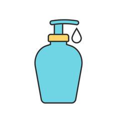 Shower gel color icon vector