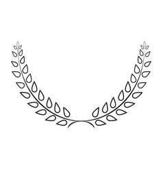 sign laurel wreath mono 103 vector image