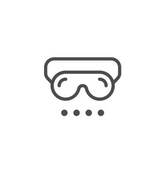 Sleep mask line icon vector