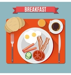 Small breakfast Top view vector image