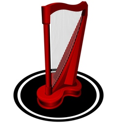 small red Harp vector image