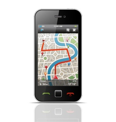 Smartphone with navigation vector