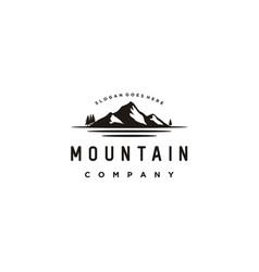 snow mountain mount peak hill nature landscape vector image
