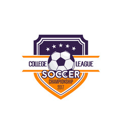 Soccer football college league badge icon vector