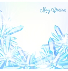 Sparkling ice crystals vector image